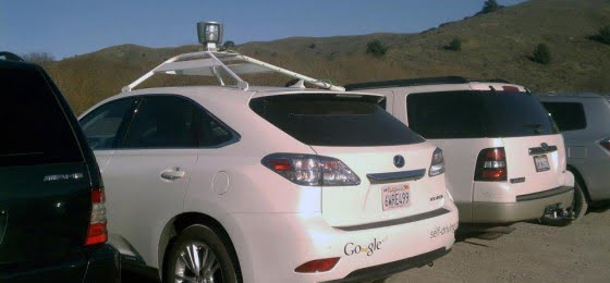 Driverless Google car spotted at Muir Beach